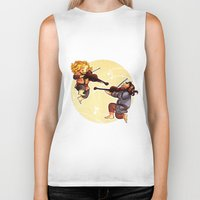 fili Biker Tanks featuring Fiddling Fili and Kili by quelm
