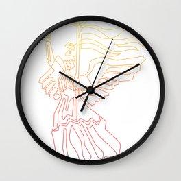 Berlin Angel Single Line Wall Clock
