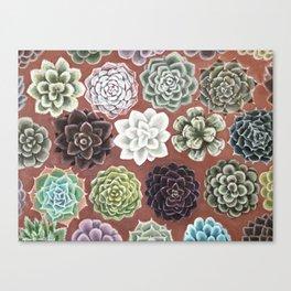 Succulent Life Canvas Print