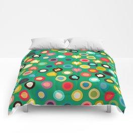 green pop spot Comforters