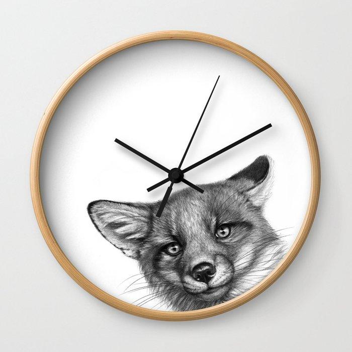 Fox Cub G139 Wall Clock