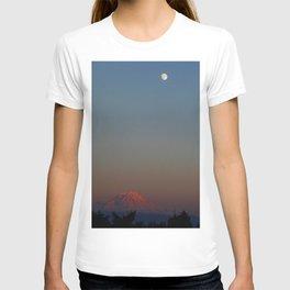 Mount Rainier Moon Rise T-shirt