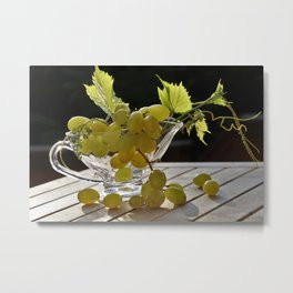 Grapes on the Table Metal Print