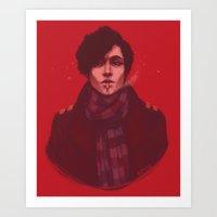 Michael on Red Art Print
