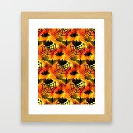 Halloween Abstract Framed Art Print