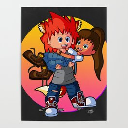 Tomboyish niece in her uncle's arms Poster