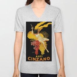 Vintage poster - Asti Cinzano Unisex V-Neck