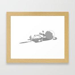 Casting Life. Framed Art Print