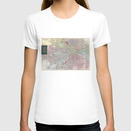 Vintage Map of London England (1892) T-shirt