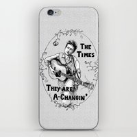 bob dylan iPhone & iPod Skins featuring Bob Dylan by Required Animals