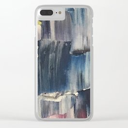 Drenched in Rain-Wrapped Shadows Clear iPhone Case