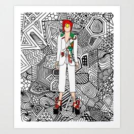Heroes Fashion 7 Art Print