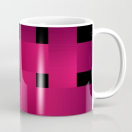 Satin red ribbons on black . Coffee Mug