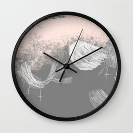 Free Willywagtails Wall Clock