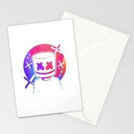 Marshmello watercolor Stationery Cards