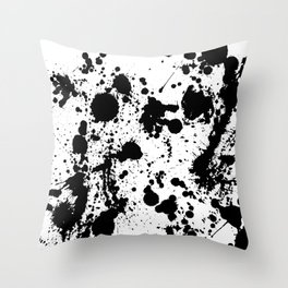 Ink spattered all over - Pattern #society6 #lifestyle Throw Pillow
