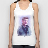 dean winchester Tank Tops featuring Dean Winchester Pastel by Kaye Pyle