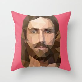 Jezus Digial Icon Throw Pillow