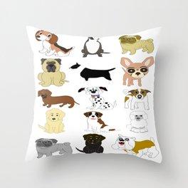 Pet dogs design Throw Pillow