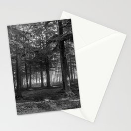 Black and white forest - North Kessock, Highlands, Scotland Stationery Cards