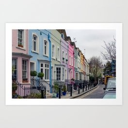 Chelsea Row Houses home of George Smiley in Chelsea London England Art Print