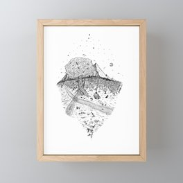 A cabin in the woods Framed Mini Art Print