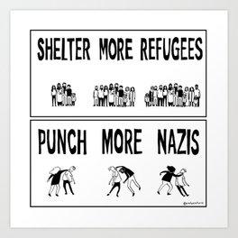 Shelter More Refugees Art Print