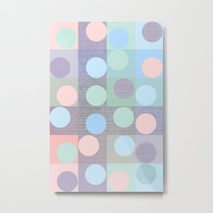 pastel circles in squares Metal Print
