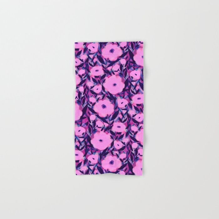 Layered Leaf Floral Pink Hand & Bath Towel