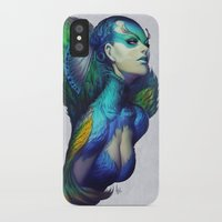 peacock iPhone & iPod Cases featuring Peacock Queen by Artgerm™