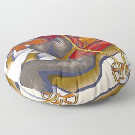 Norge Travel Poster Floor Pillow