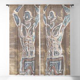 Space Visitation Sheer Curtain