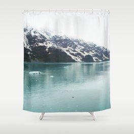 Hubbard Glacier Snowy Mountains Alaska Wilderness Shower Curtain