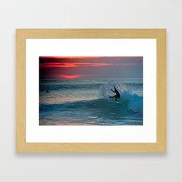 Late Afternoon Surf, Hossegor- France - 2013 Framed Art Print