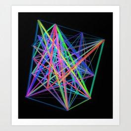 Colorful Rainbow Prism Art Print