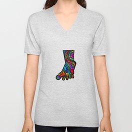 Folk Art Foot Unisex V-Neck