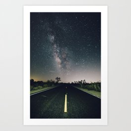 Aliens Exist - Joshua Tree Milky Way Art Print