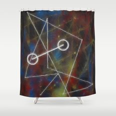 kissing triangles Shower Curtain