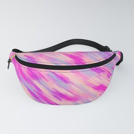 pink purple and blue painting abstract background Fanny Pack
