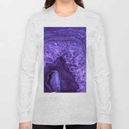 Ultra Violet Agate Mineral Gemstone Long Sleeve T-shirt