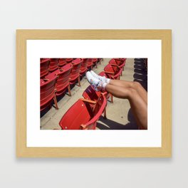 Kickback in Millenium Park Framed Art Print