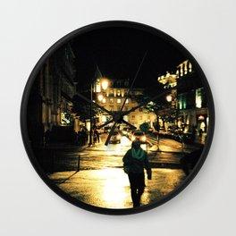 Warm Nights in Lisbon Wall Clock