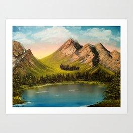Peaceful Peaks Art Print