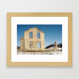 Homestead Ruins, Cross Plains, WI Framed Art Print