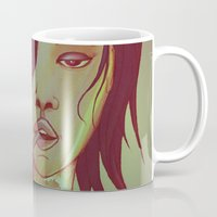smoking Mugs featuring Smoking by IOSQ
