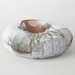Summer at the beach - Landscape and Nature Photography Floor Pillow