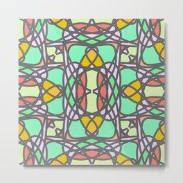 Decorative stylized mosaic seamless pattern Metal Print