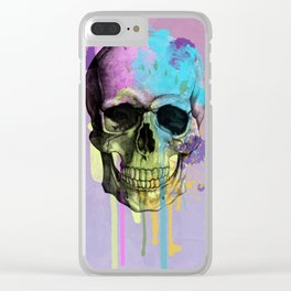 skull in purple Clear iPhone Case