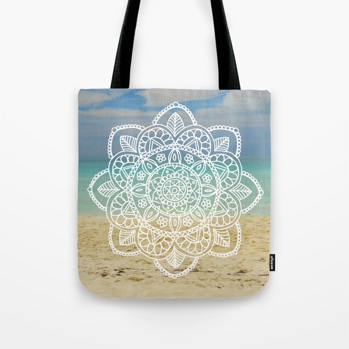 Beach Mandala Tote Bag