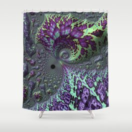 Glitchy Fractal Shower Curtain
